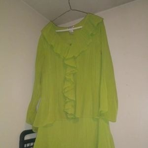 Other - Bobbie bee lime green skirt /top size 2x brand new
